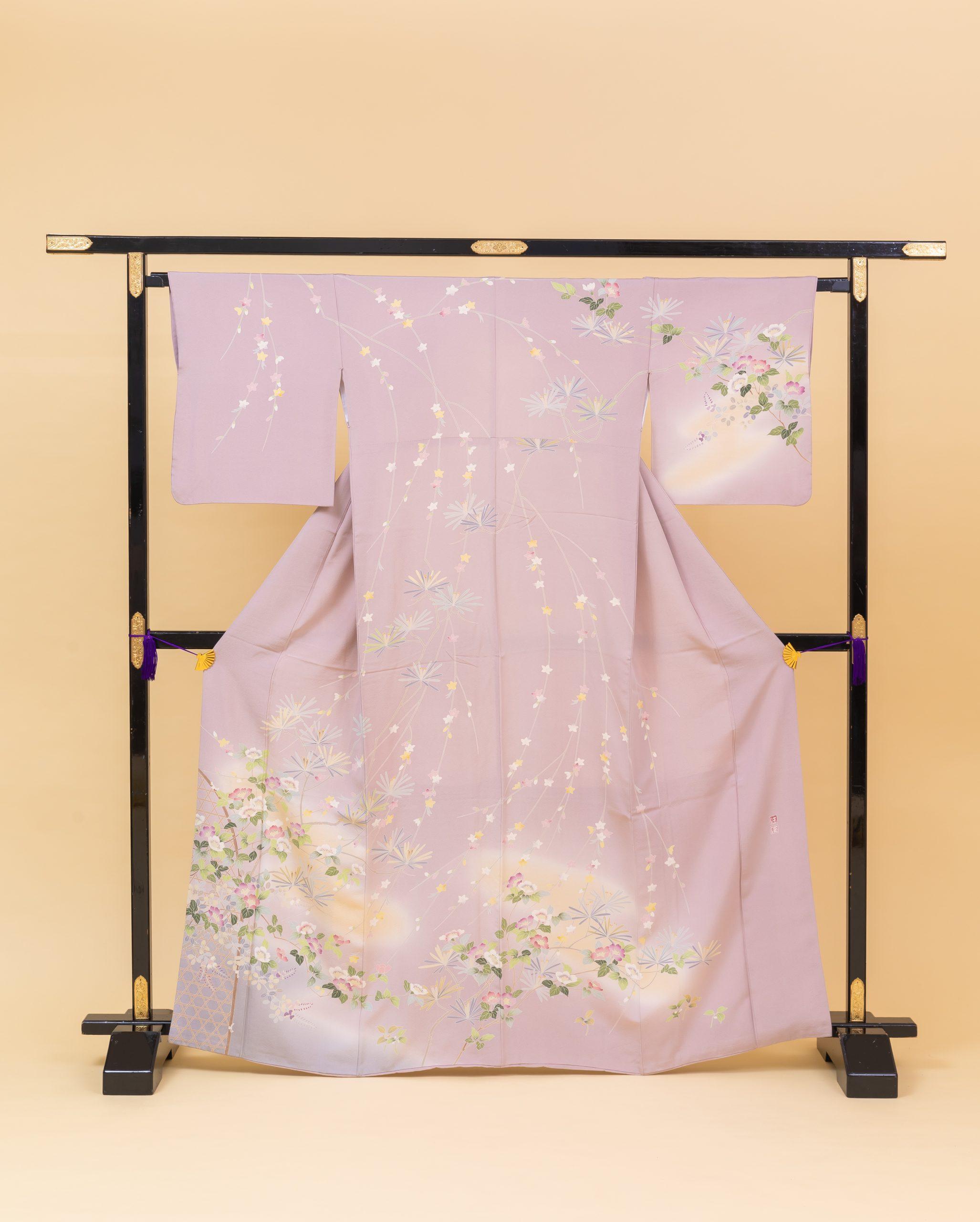 紫地友禅松椿(700106)